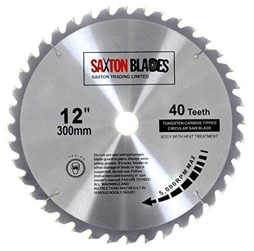 Saxton TCT Kreissägeblatt Holz Sägeblatt 300mm x 30mm 40T für Bosch, Makita usw.