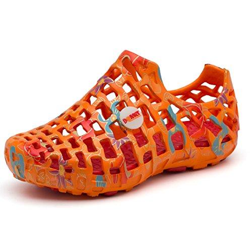 Xing Lin Chaussures DÉté Hommes La Sandale De LÉté Enfants Hommes Respirante Garçons Chaussures Orteil Dans Le Grand Garçon Garçons Chaussures De Plage DÉcolier Summer orange summer orange