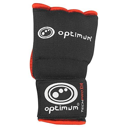 Optimum Tech Pro X14 - Guantes de boxeo para entrenamiento, color negro / rojo, talla XL