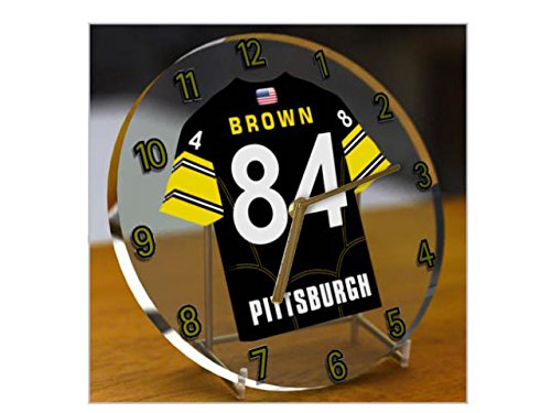l Jersey Desktop-Uhr – AFC North, kostenlose Personalisierung., PITTSBURGH STEELERS (Steelers Football-uniform)