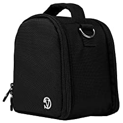 VanGoddy Laurel DSLR Camera Carrying Handbag for Nikon D5500 / D810A / D7200 / D750 / D810 / D4s / D3300 / Df / D5300 / D610 / D7100 Digital SLR Cameras (Black)