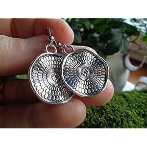 ✿ NEUE BOHO ETHNO MANDALA ✿ kleine Haken Ohrringe – einmaliges Geschenk – handgefertigt