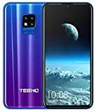 TEENO Smartphone Portable Débloqué 4G 6.2' HD écran 3Go RAM 32Go ROM (Android - Double SIM - Une Caméra - Quad Core) (i11-bleu)
