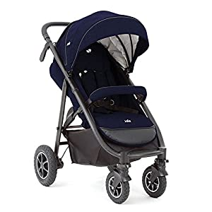 Joie Mytrax- Navy Blazer Pushchair. Mu The adjustable 5-point safety harness has comfortable shoulder pads, The sturdy frame has a wider seat which results in a more comfortable ride for your child The stroller can be easily folded, smaller and more portable; the adjustable backrest angle can be seated or lying down, as well as a large shopping basket and caster The aluminum alloy triangle frame is safer, safer and more secure. 8