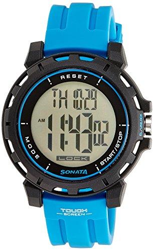 Sonata Ocean Series Digital Black Dial Men's Watch -NK77037PP02