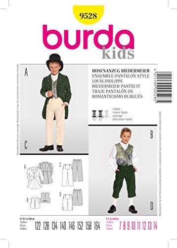 Burda Schnittmuster 9528 Biedermeier Hosenanzug Gr. 122-164