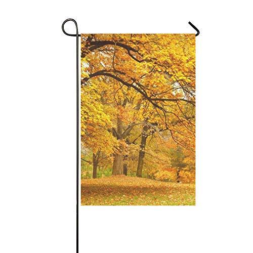 Green Garden Collection (JOCHUAN Home Dekorative Outdoor Double Sided Collection Schöne Bunte Herbstlaub Green Garden Flag, Haus Yard Flag, Garten Yard Dekorationen, saisonale Willkommen Outdoor Flag)