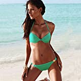 QPLA@Europa Handel gesammelt Bikini Badeanzug multicolor,Grün,M