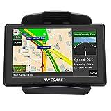 AWESAFE 5 Zoll Navigation für Auto LKW Navigationsgeräte 2020 Europa Map Lebenslang Kostenloses Kartenupdate