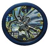 Unbekannt Wanduhr Batman  The Dark Knight  - 29 cm groß Uhr - für Kinderzimmer Kinderuhr - Analog Jungen Bruce Wayne Fledermaus Mann Comic Held Aktion
