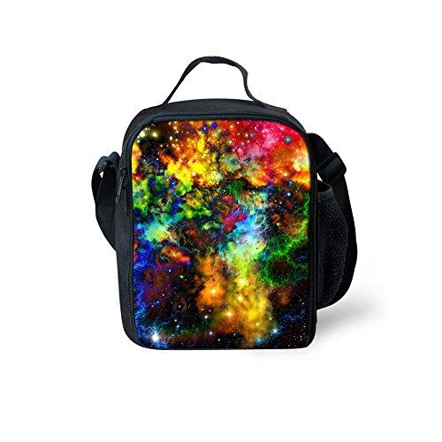Yl Story Galaxy stelle 3D stampa borsa a tracolla Totes bambini impermeabile picnic sacchetti/borse per il pranzo Galaxy Star 5 Galaxy Star 6