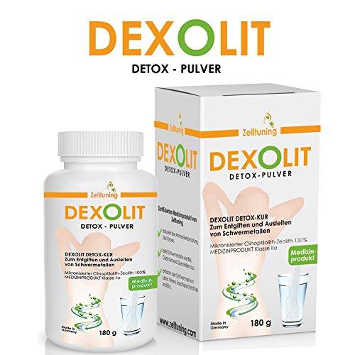 Zelltuning DEXOLIT Detox Pulver * Natürlich und sicher entgiften * 100% Mikronisierter Clinoptilolith – Zeolith * Zertifiziertes Medizinprodukt von Zelltuning * 24 Tage