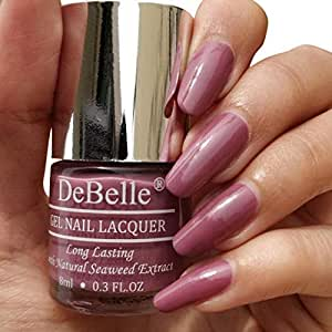 DeBelle Gel Nail Lacquer Laura Aura - 8 ml (Light Mauve Nail Polish)