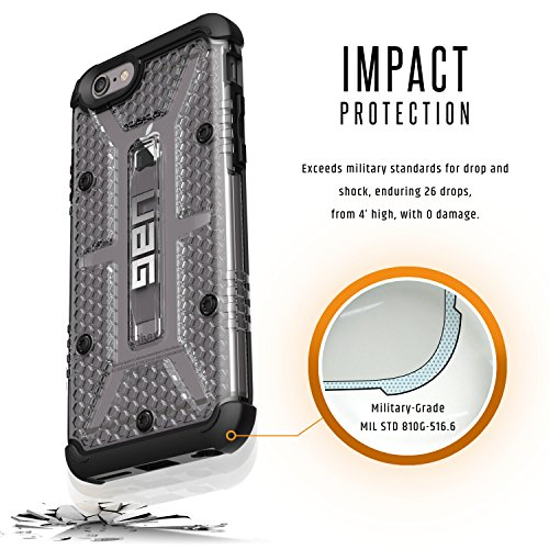 Urban Armor Gear Monarch Custodia per iPhone 7/6s Plus, Conforme agli Standard Militari Anticaduta, Magenta Ice