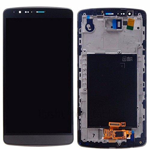 yyyu7yy Complete la Pantalla LCD de reemplazo Original y el ensamblaje del digitalizador de Pantalla táctil para LG G3 D855 D850