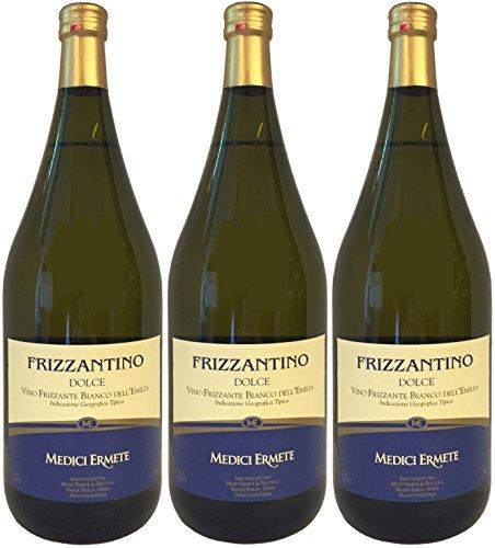 FRIZZANTINO Bianco Dell´Emilia IGT dolce MEDICI ERMETE (3 X 1,50 L) - Weißer Süßer Perlwein 7,5...