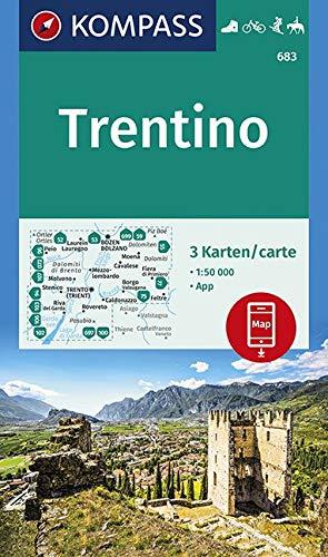 Carta escursionistica n. 683. Trentino 1:50.000 (set di 3 carte): 3 Wanderkarten 1:50000 im Set inklusive Karte zur offline Verwendung in der KOMPASS-App. Fahrradfahren. Skitouren. Reiten.