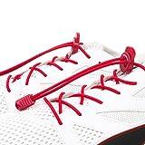 Red&Easy 3 Paar Elastische Schnürsenkel Mit Schnellschnürsystem und festem Halt, Ideal Für Sport, Kinder Und Senioren (Rot)