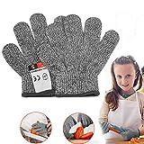 Schnittsichere Handschuhe für Kinder - Leistungsfähiger Level 5 Schutz, lebensmittelecht, Geeignet für 5-8 Jährige, XXS