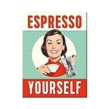 Nostalgic-Art 14350 Say it 50's Espresso Yourself, Magnet, 8 x 6 cm