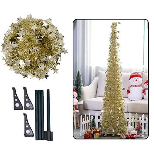 Joyibay 3.94ft Künstlicher Weihnachtsbaum DIY Faltender Filterstreifen Weihnachtsdekorations Partei Dekor - Partei Für Material Dekore Die