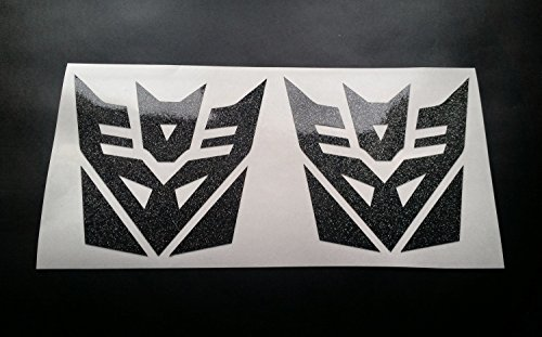 decepticons-transformers-x2-glitter-metal-flake-vinyl-car-sticker-decal-graphic-gold-glitter-200mm-x