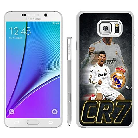 Hot Sale Samsung Galaxy Note 5 Case ,Unique And Durable Designed Case With CR7 white Samsung Galaxy Note 5 Cover Phone