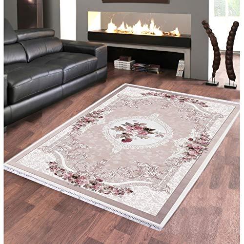 Alya Teppich Teppich dinarsu Sunshine-1055Rosa, 120 x 160 cm