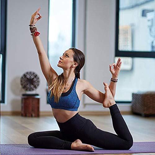 Perfektes bestes Geschenk für Frauen !!! Beisoug Frauen hohe Taille schlanke Yogahosen Taschen Bauch Training Laufen Sport Leggings Jogginghose (schwarz)