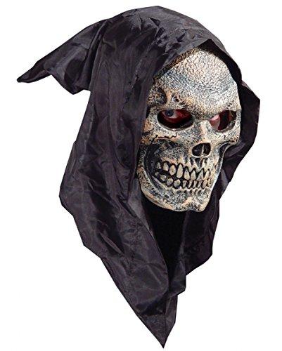 Horror-Shop Reaper Skull Halloween Maske aus Schaumlatex mit -