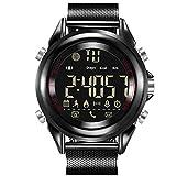 Herrenuhr, Smart Watch, Wasserdichte Uhr, Sportuhr(Black)