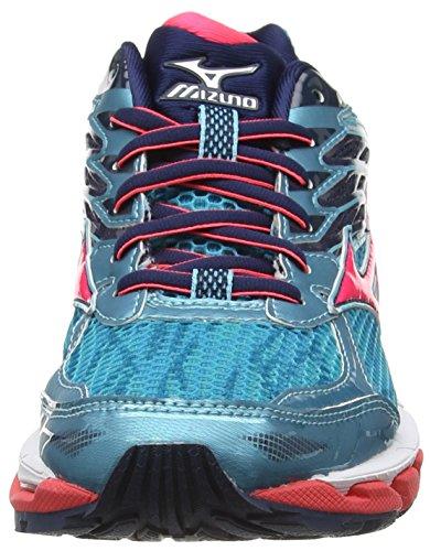 Mizuno Wave Paradox 3, Chaussures de Running Compétition Femme Turquoise - Turquoise (Capri/Diva Pink/Dress Blues Viscotech)