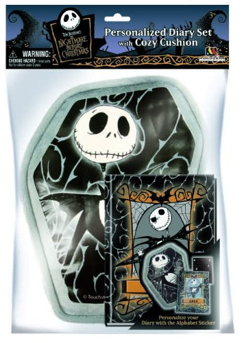 Nightmare Before Christmas Pillow with Pocket & Diary Set