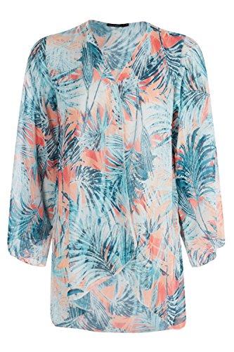 Damen Multi Petite Francesca Kimono Mit Tropischem Blumen-print Multi
