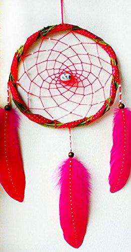 hecho-a-mano-de-atrapador-de-suenos-rosa-con-plumas-y-abalorios-hilo-acrilico-interior-ideas