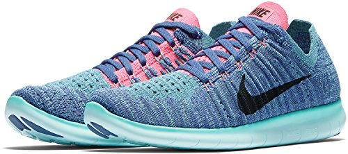 Nike WMNS Free RN Flyknit, Sneakers trail-running femme Violet