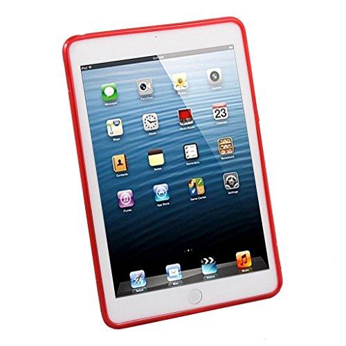 Preisvergleich Produktbild Premium Apple iPad mini 4rot silikon Hülle Case Cover Gel S-Line Wave Design Schutzhülle für Apple iPad Mini 4