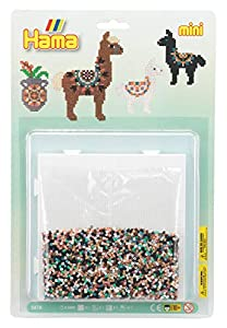 Hama 10.5618 Mini Alpaca Blíster Pack Mosaic Bead Set, Mixed, One Size