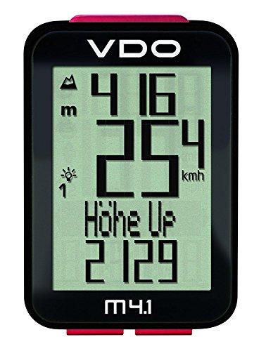 VDO M4.1 WR Fahrradcomputer (kabelgebunden) 34 Funktionen mit Höhenmesser (Vdo-fahrradcomputer)