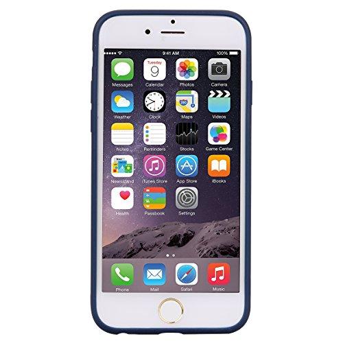 iphone 6 Plus Hülle, E-Lush TPU Silikon Handy Case Hülle für iphone 6 Plus Schön Einfarbig Jelly Weich Dünn Muster Weich Silikon Handyhülle Schale Schutzhülle Ultradünnen Etui Anti-stoß Kratzfeste Cas Brown blau