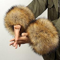 KEERADS Women's Winter Faux Fur Wrist Cuff Bracelet Warmers
