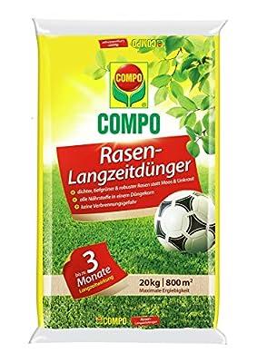 COMPO Rasen-Langzeitdünger, 3 Monate Langzeitwirkung, Feingranulat