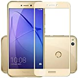Plus Pro HD+ Crystal Clear Full Screen Coverage Tempered Glass Screen Protector For Huawei Honor 8 Lite - Luxury Gold