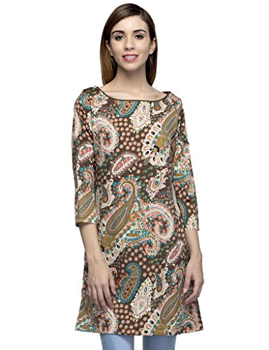 Oxolloxo Women Multicoloured Printed Tunic  available at amazon for Rs.284