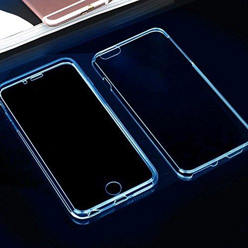 MOMDAD Souple Coque pour Apple iPhone 4 4S TPU Silicone Étui iPhone 4 4S Soft Housse Protecteur Case iPhone 4 4S Transparent Coque iPhone 4 4S Absorbant Chocs Protection Étui iPhone 4 4S Anti-Scratch  Transparent bleu