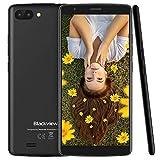 Blackview A20 Dual-SIM Smartphone (13.96cm 5.5' 18:9 Full-Touch-Display), 3000mAh Akku, Android 8.1 (GO Edition) Handy ohne Vertrag Günstiges, 8 GB Telefonspeicher - Schwarz