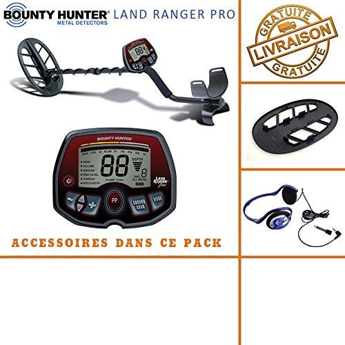 Bounty HunterLand Ranger Pro -Detector de Metales con Protector de Disco y auriculares