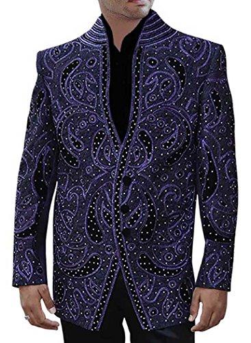 INMONARCH da uomo con scritta Groom, colore: viola, Wear-Tuta PW150 4 pezzi Viola
