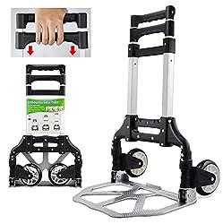 Yaheetech Sackkarre klappbar Transportkarre Stapelkarre Handewagen mit Griff Transportwagen Trolley belastbar bis 80 kg