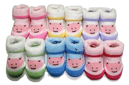 Camey Cotton Baby Socks (Ca0081Cis -Multicolour -3 to 6 Months) (Pack Of 6)